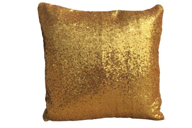 BRIGHT GOLD SEQUIN PILLOW