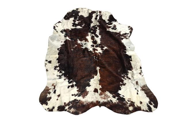 BLACK/WHITE/BROWN COWHIDE RUG