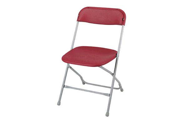 BURGUNDY FOLDING CHAIR