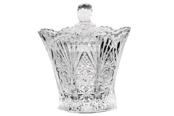 COUNTRY FLAIR GLASS SUGAR BOWL