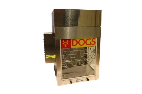 CAROUSEL HOT DOG MACHINE WITH BUN WARMER