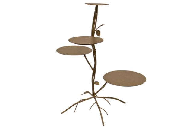 BROWN 4-TIER TREE CAKE STAND