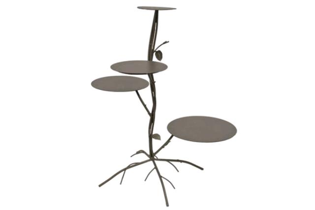 PEWTER 4-TIER TREE CAKE STAND