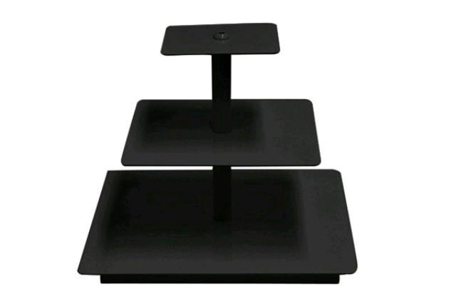 MINI BLACK SQUARE CUPCAKE STAND