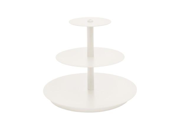 MINI WHITE ROUND CUPCAKE STAND 3 TIER