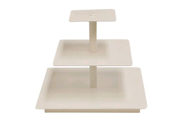 MINI WHITE SQUARE CUPCAKE STAND