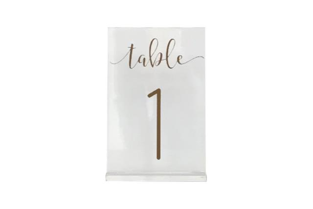 ACRYLIC TABLE NUMBERS (1-20)