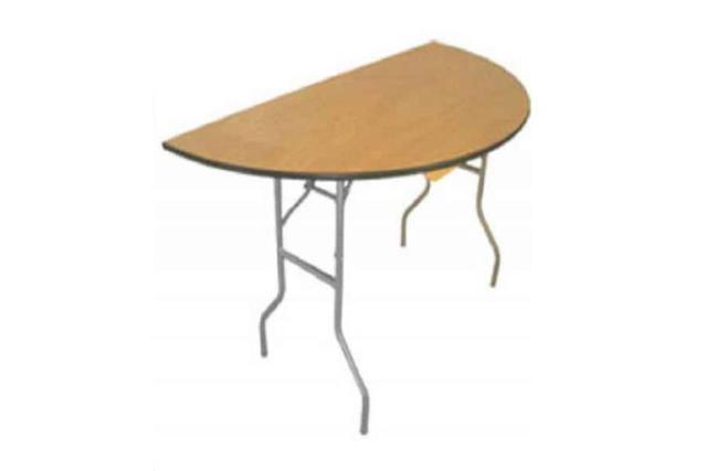 4' HALF ROUND BIRCH TOP TABLE