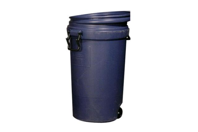 121 LITRE WHEELED NAVY GARBAGE CAN