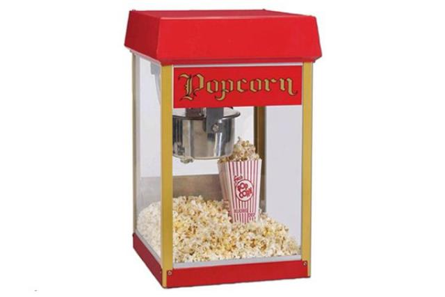 4 OZ RED/GOLD POPCORN MACHINE