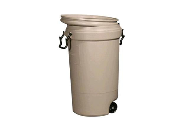 121 LITRE WHEELED TAN GARBAGE CAN