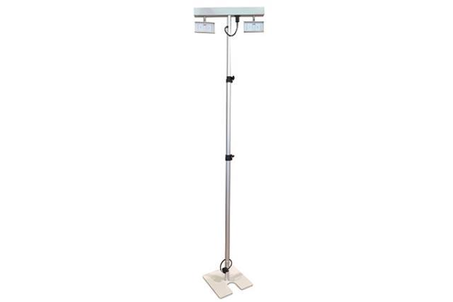 2 HEAD LED LIGHT UNIT, 4'-8' TELESCOPIC POLE
