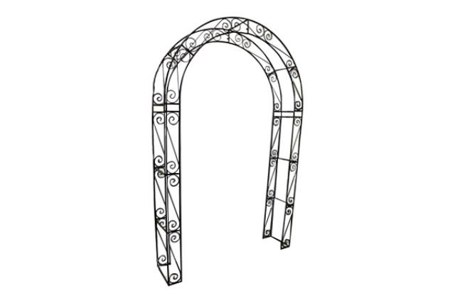 RUSTIC BROWN SCROLL ARCHWAY