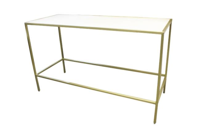 COMMUNAL INDUSTRIAL GOLD/PLEXI TABLE