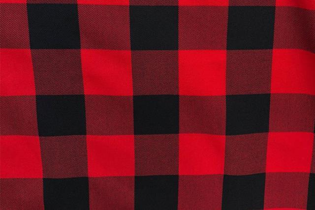 BUFFALO CHECK RED/BLACK LINEN