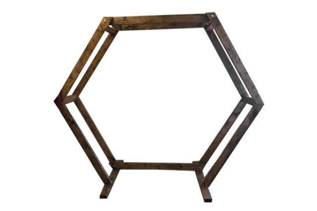 DOUBLE WIDE HEXAGON WOODEN ARCHWAY