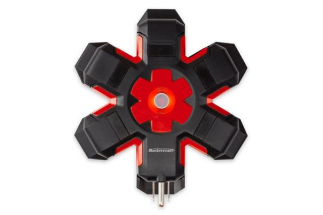 5 OUTLET BLACK/RED POWER HUB