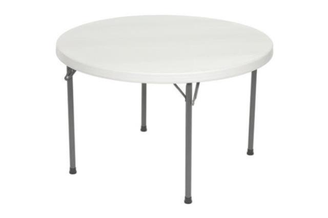 4' ROUND PLASTIC TOP TABLE