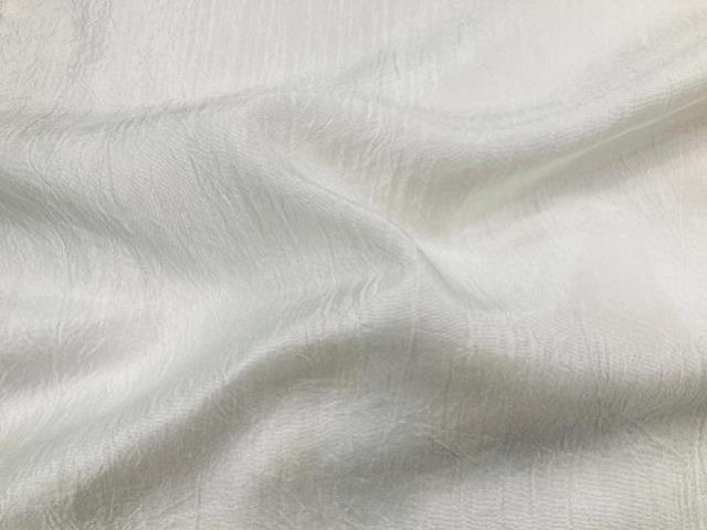 WHITE TAFFETA CRUSH RUNNER, 106