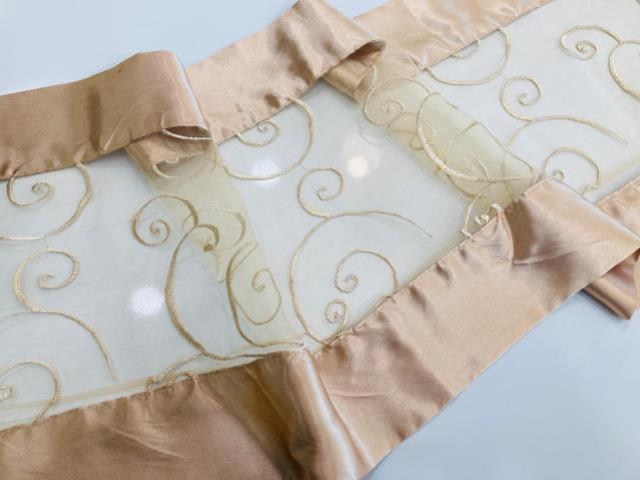 CHAMPAGNE EMBROIDERED W/ SATIN RUNNER, 104