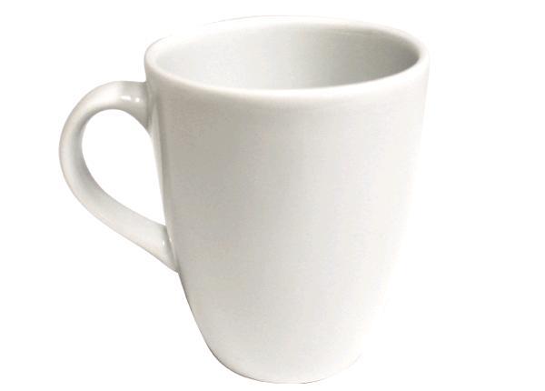 10 OZ CLASSIC WHITE COFFEE MUG