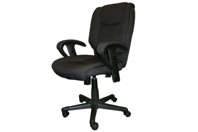 GREY EXECUTIVE CHAIR WITH ARMS