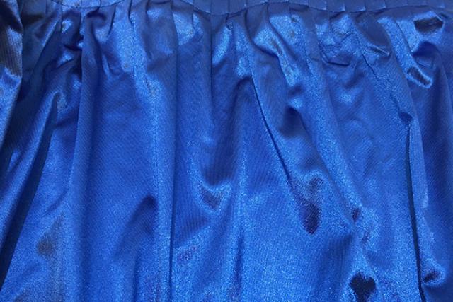 ROYAL BLUE POLYKNIT TABLESKIRT
