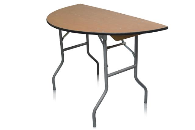 4' HALF ROUND PLYWOOD TOP TABLE