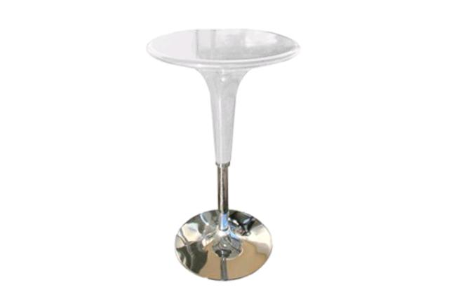 ROUND OFF-WHITE GELATO ADJUSTABLE COCKTAIL TABLE