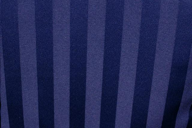NAVY SATIN STRIPE NAPKIN