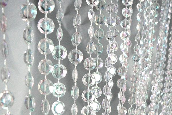 6' LONG BEADED IRIDESCENT CURTAIN