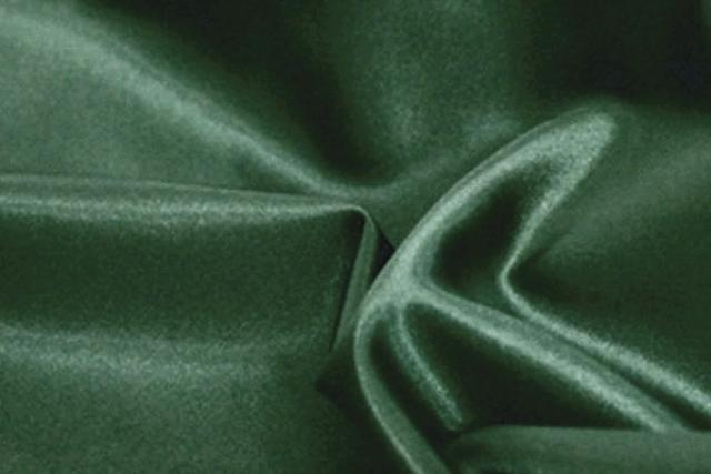 FOREST GREEN SATIN LINEN