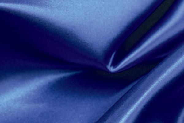 SAPPHIRE BLUE SATIN LINEN