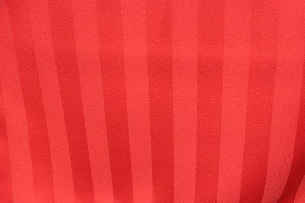 RED SATIN STRIPE LINEN