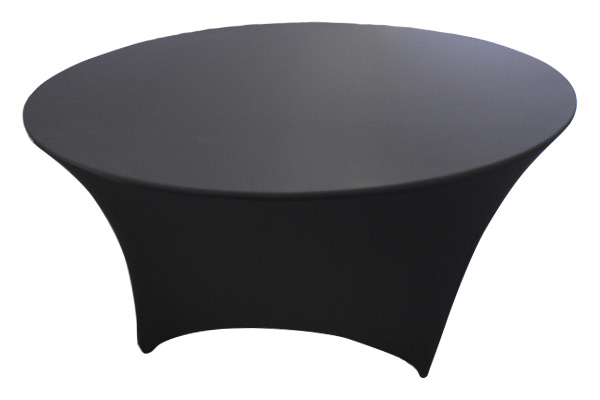 6' ROUND BLACK SPANDEX COVER