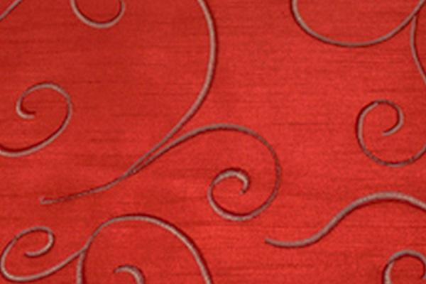 SWIRL BRIGHT RED NOVA LINEN
