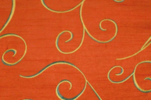 BURNT ORANGE SWIRL NOVA NAPKIN