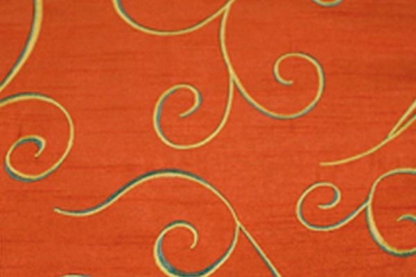SWIRL BURNT ORANGE NOVA LINEN