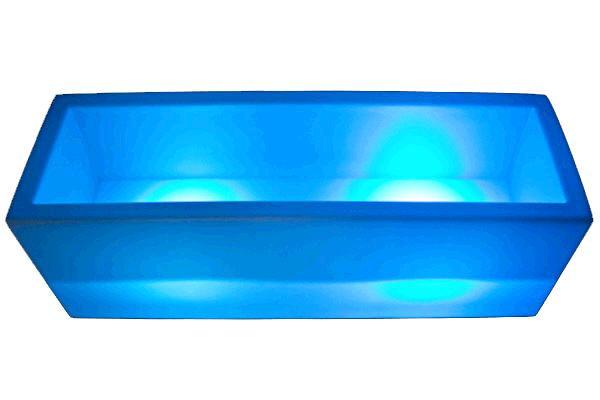 RECTANGULAR PLASTIC LED ICEBUCKET