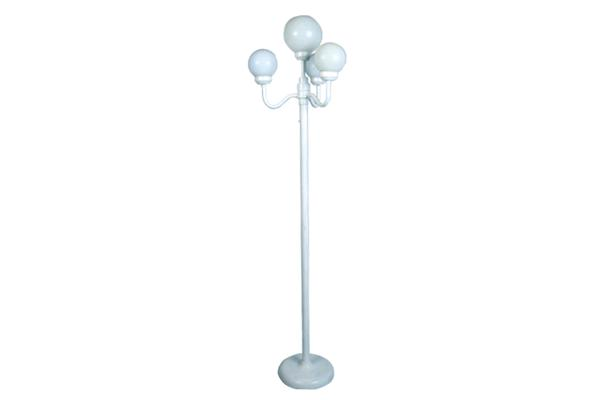 6' WHITE POLE WITH LIGHT DIMMER