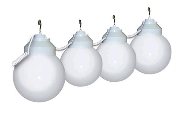 WHITE/CLEAR 10 GLOBE LIGHTS