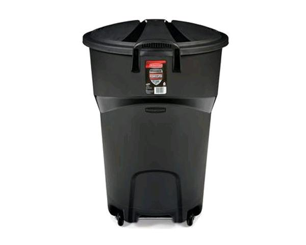 121 LITRE WHEELED BLACK GARBAGE CAN