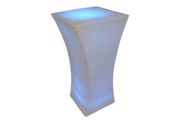 SQUARE LED COCKTAIL TABLE