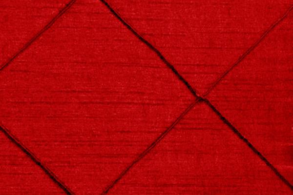 PINTUCK BRIGHT RED NOVA LINEN
