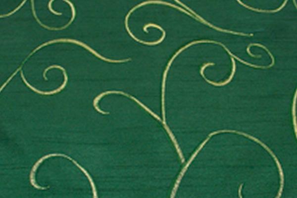 SWIRL HUNTER GREEN NOVA LINEN