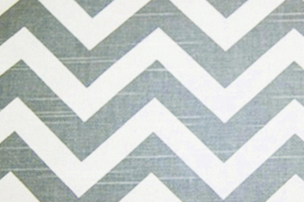 COOL GREY CHEVRON LINEN