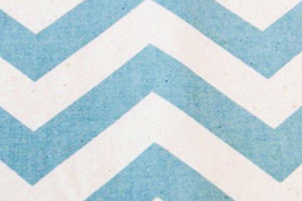 ISLAND BLUE CHEVRON LINEN