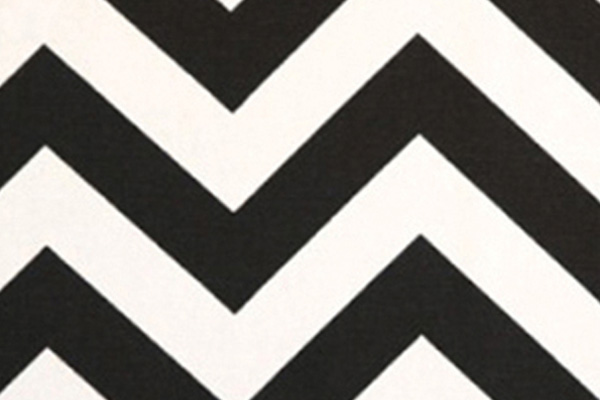 BLACK & WHITE CHEVRON LINEN