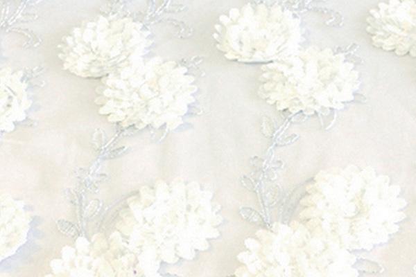 WHITE BRIDAL SHEER LINEN