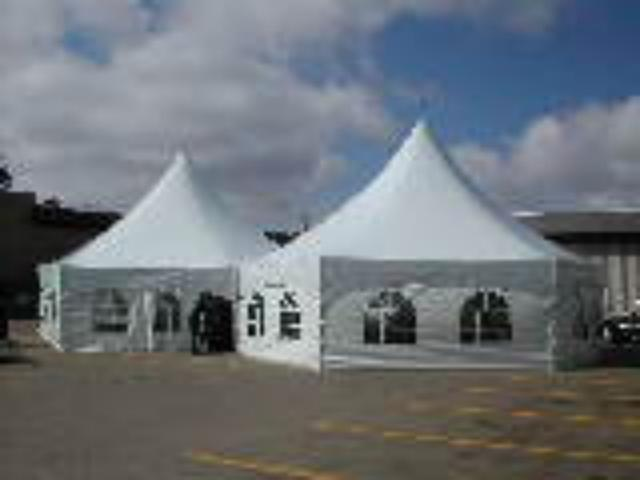 34' WHITE TWIN HEX FRAME TENT